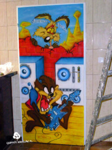 graffiti-drzwi-looney tunes